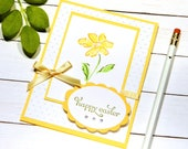 Happy Easter Card - Easter Greeting Card - Easter Blessings - Spring Themed Cards - Floral Card Messages - Stampin Up Cards