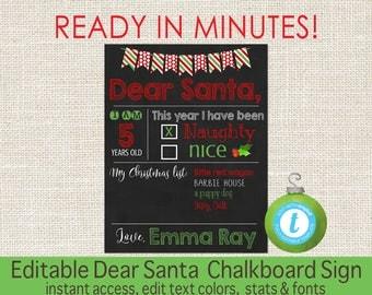 editable christmas wish list template