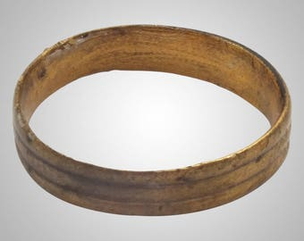 Authentic Ancient Viking  wedding Ring, medieval ring, wedding band, wedding ring  C.866-1067A.D. Size 6  (16.7mm)(Brr1023)