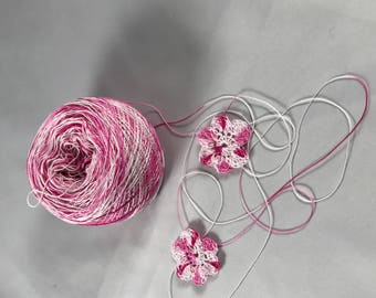 Crochet Cotton - Size 20 - Hand Dyed - Pretty in Pink - HDT - Your Choice of Amount