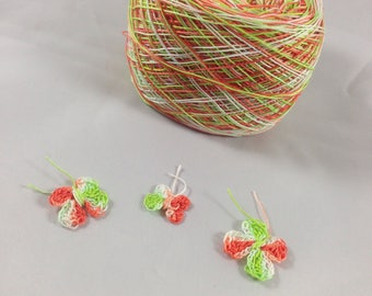 LIMITED AMOUNTS - Crochet Cotton - Size 30 - Hand Dyed - Pumpkin Patch - Your Choice of Amount