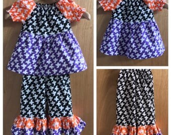 Halloween Top and Ruffle Pants, size 2t