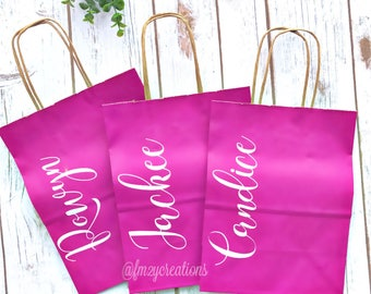 Bachelorette Party Gift Bags | Personalized gift bags | Bridesmaid gift bags | Thank you gift bag | Bridal Party Gift Bag | SS