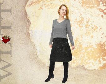 Skirt ** BLACK GLAMSTAR ** sequined skirt