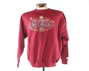 90s San Francisco 49ers Sweatshirt NOS Logo Athletic NFL Football Vintage 1990s Mens Large L Long Sleeer Hoodie