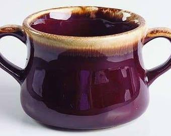 McCoy Brown Drip Glaze Cream Soup bowl