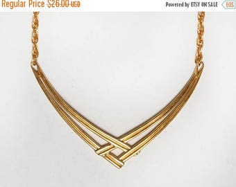 MOVING SALE 80s Monet Necklace. Gold Tone Signed Costume Jewelry Bib Necklace. Statement Necklace. Art Deco Gold Necklace. Vintage Choker Ch