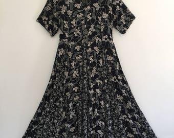Vintage 90's Starina Black & White Dress M