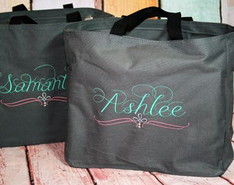 Bridesmaid Totes, Wedding Party Bags, Wedding Party Gift Bags, Monogrammed Totes, Personalized Totes, Bridemaids Bags, Canvas Bags