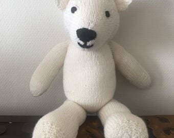 Teddy Bear, Handmade, Knitted, Soft Toy