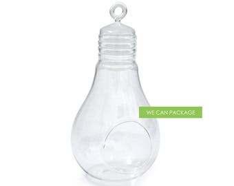 9 Inch Bulb Terrarium Glass Orb Container Holder Wedding Centerpieces Ideas 2 pack