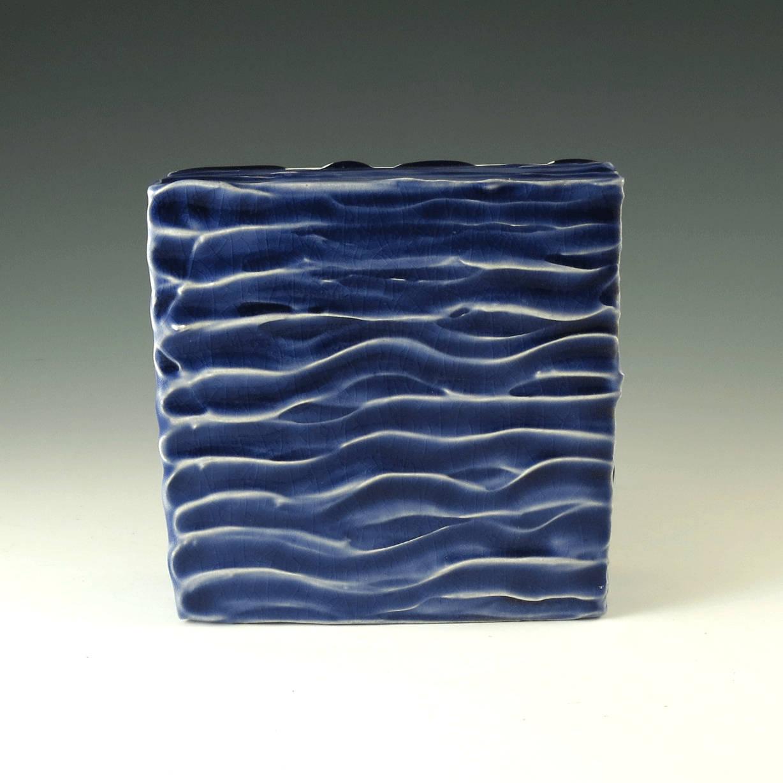Blue Pottery Art Decor Wall Art Handmade Pottery Wall Hanging