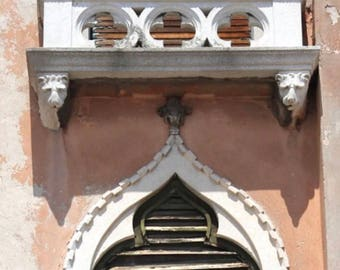 Venice Photograph, Travel Photography, Italy Picture, Picture of windows, Gothic windows, Venetian windows, architectural details