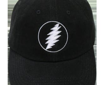 GD Lightning Bolt Embroidered Ball Cap-Black