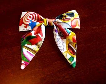 EMOJI Hair Bow, Emoji, Hair Bow, Sailor Hair Bow, Emoji Sailor Hair Bow, Hair Bow w/Clip