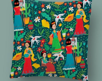NEW Frida Cushion Pre-Order. Hand Painted Design.
