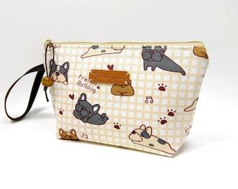 French Bulldog Zipper Pouch, Cosmetic Bag, Makeup Bag, Toiletry Bag, Supply Bag, Purse Organizer, Zipper Wristlet, Limited Fabric!