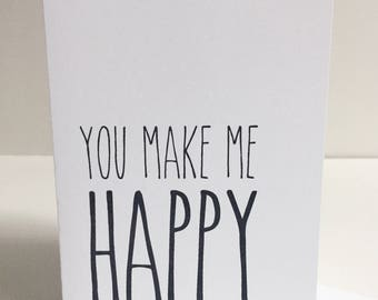 You Make Me Happy - Single Card
