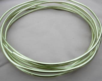 3mm Aluminum Wire, Apple Green, for jewelry, crafts, sculpture