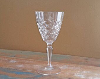 Glass Water Goblet Dauphine Cristal D'Arques-Durand Vintage