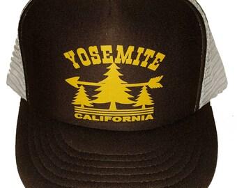 Brown Yosemite  Snapback Mesh Trucker Hat Cap California
