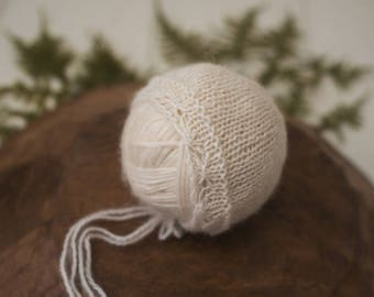 June Knit Bonnet Newborn Photography Prop