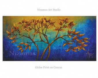 Art on canvas limited edition print Interior Decor P Nizamas Dreaming in Blue ready to hang