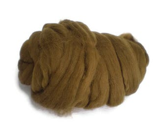 Coconut Brown Merino Wool  Fleece Roving for Felting or Spinning Australian Fleece