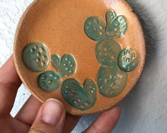 stamped prickly pear dish