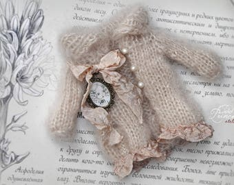Blythe/Pullip JACKET PASTEL DREAMS By Odd Princess Atelier, Victorian Outfit, New Hand Knitted Collection