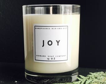 JOY >> cinnamon thyme cranberry pine/handpoured soy candle/phthalate free/minnesotamade