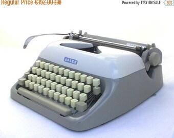 SALE 20% off Vintage Typewriter, Mid Century Typewriter, Manual Typewriter, Working Typewriter, 1960s portable typewriter, Grey Typewriter A