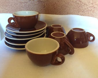 Vintage Espresso Restaurant Ware Cups and Saucers Lot of 5