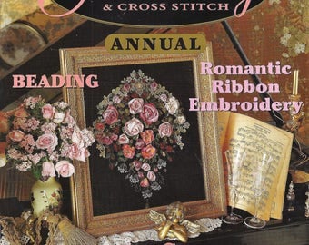 AUSTRALIAN EMBROIDERY and Cross Stitch-Annual Magazine Volume 3 No.2 from 1997  Beauitiful Heirloom Projects to Stitch
