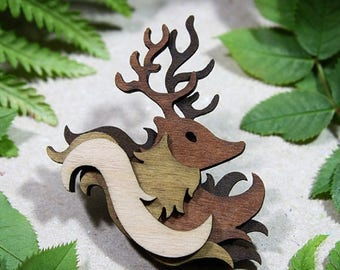 SALE Stag Brooch  - Woodland Collection