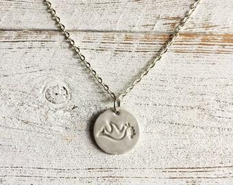 Dove Pendant, Ceramic Pendant, Unique Gift, Ceramics, Peace, Christmas, Gift for Her, Dove Jewelry, Ceramic Jewelry