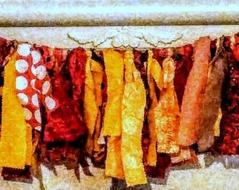 Fall Garland, Rag Garland, Fabric Garland, Fall Decor, Farmhouse, Autumn, Thanksgiving,