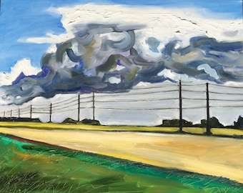 Clouds and Poles - North Fork