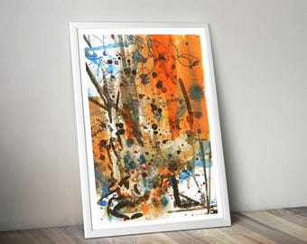 Day 015  'Carribean Blue' Extra Large ART PRINT Home Decor Kitchen Dinning room Gift For Him By The Urban Tiger