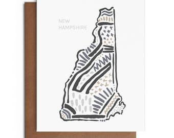 New Hampshire - Blank Greeting Card - Digitally Printed - A2 Cards w/ envelope - Stationery - Direct Mail