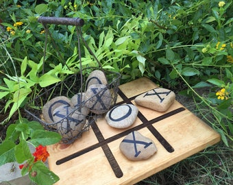 Yard games, outdoor games, tic tac toe, party games, gift idea, Christmas gift, board game, handmade, backyard game, lawn game