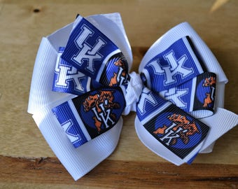 University of Kentucky Hair Bow UK Wildcats