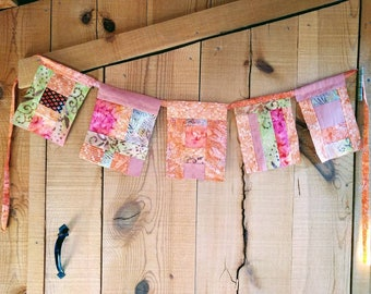 Orange and Pink Flags Bunting Prayer Flags Decoration