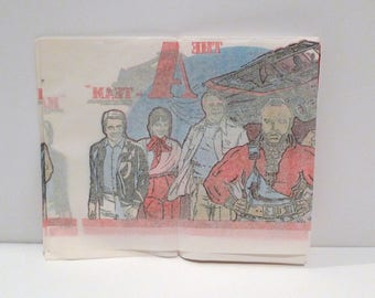Vintage The A Team / Mr T Tablecover 1983 Tablecloth Birthday Retro Movie Party John Hannibal Smith Templeton Peck HM Howling Mad Murdock BA