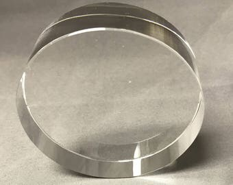 round crystal desk paper weight