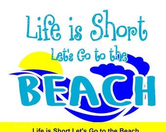 SVG - Lets go to the Beach - Summer svg - Beach svg - ocean wave svg