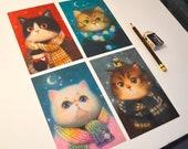 Cozy Cat Postcard Set