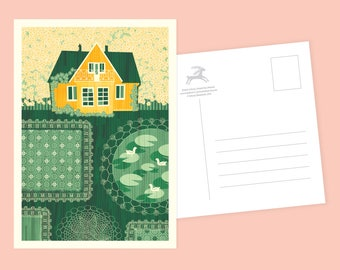 Countryside Garden Postcard or Postcard Set - Inspired by Lithuania Series