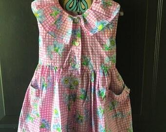 Vintage flower petal dress 5t