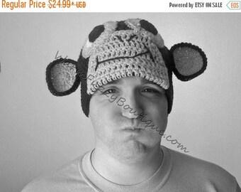 SUMMER SALE Monkey Hat - Crochet Newborn Baby Beanie Boy Girl Costume Winter Christmas Ape Chimp Photo Prop Cap Outfit